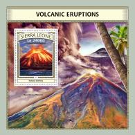 SIERRA LEONE 2016 ** Volcanic Eruption Vulkanausbrüche L'éruption Volcanique S/S - IMPERFORATED - A1702