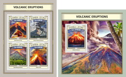 SIERRA LEONE 2016 ** Volcanic Eruption Vulkanausbrüche L'éruption Volcanique M/S+S/S - IMPERFORATED - A1702