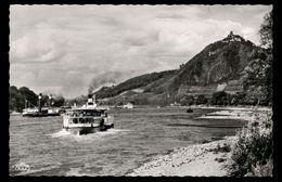 [022] Drachenfelsen Von Grafenwerth, Boot, ~1960 - Deutschland