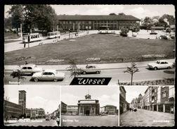 [022] Wesel, Bahnhof, Brückestraße, Berliner Tor, Hohestraße, ~1965 - Wesel