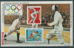 Bolivien 1983 Olympiade Los Angeles Block 135 Postfrisch (C22871) - Bolivien