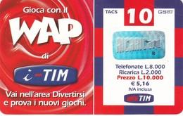 Lotto Di  9 Ricaricar Tim. - Schede Telefoniche