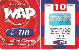 Lotto Di  9 Ricaricar Tim. - Télécartes