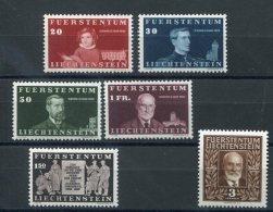 LIECHSTENSTEIN 1940 N° 161/ 166 ** MNH (sans Charnière) - Liechtenstein