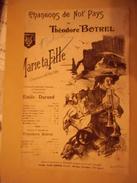 """Partition Ancienne  (  Chansons De Not' Pays  De Théodore Botrel  ) """" Marie Ta Fille """" Paroles  Et Musique  Théodore Bot - Noten & Partituren"""