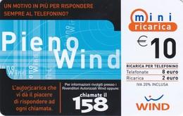 Lotto Di  10 Ricaricar Wind. - Télécartes