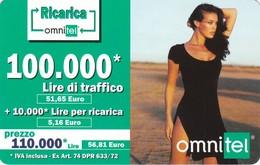 Lotto Di  3 Ricarica Omnitel. - Télécartes