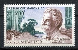 Gabon, 1960, Schweitzer, Health Care, Nobel Prize Winner, MNH, Michel 154