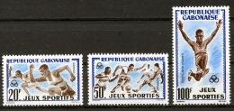 Gabon, 1962, Sports, Athletics, Running, Far Jump, Soccer, Football, MNH, Michel 172-174
