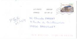 FRANCIA - France - 2012 - Palais Amalienborg - Viaggiata Da 38909A Per Breuillet, France - Francia