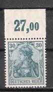 Reich Variété Du N° 122 Neuf ** Michel 144 P OR - Ungebraucht