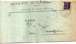 1946  LETTERA CON ANNULLO SALZANO VENEZIA - 4. 1944-45 Repubblica Sociale