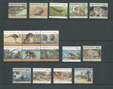 Australia 1992 Wildlife Fauna Definitive Simplified Set Of 17 MNH - 1990-99 Elizabeth II