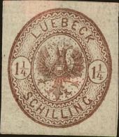 Lubeck Scott #13, 1864, Hinged