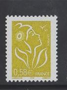 2005 - TIMBRE NEUF - MARIANNE DE LAMOUCHE (Jaune-olive) - N° YT : 3735 - 2004-08 Marianne De Lamouche