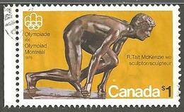 Sc. # 656 Olympic Sculptures Single Used 1975 K1032 - 1952-.... Règne D'Elizabeth II