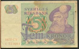 °°° SWEDEN SVEZIA - 5 KRONOR 1978 °°° - Svezia