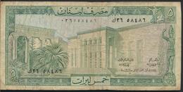 °°° LIBAN - 5 LIVRES 1986 °°° - Libano
