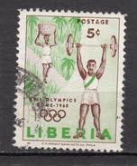 Libéria, Haltérophilie, Weight Lifting, Jeux Olympiques De Rome Olympic Games, Panier, Basket