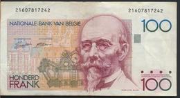 °°° BELGIO BELGIUM - 100 FRANCS FRANK °°° - [ 2] 1831-... : Regno Del Belgio