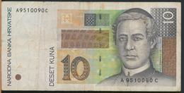°°° CROAZIA - 10 KUNA 1995 °°° - Croazia