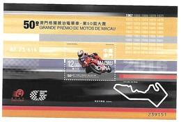Macau Macao 2016 50th Motorcycle Grand Prix S/S MNH - 1999-... Chinese Admnistrative Region