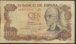 °°° SPAGNA SPAIN - 100 PESETAS 1970 °°° - [ 3] 1936-1975: Franco