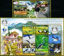 SA0399 Bhutan 2015 Black - Necked Crane M/s MNH - Bhután