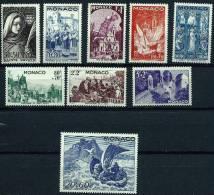 """Monaco YT 265 à 273 """" Fête De Sainte-Dévote, Série De 9 Valeurs """" 1944 Neuf*"""