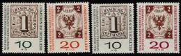 BRD 1959, Michel 310/11 A Und B,  Postfrisch **, INETRPOSTA  Hamburg - Ongebruikt