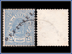 Luxembourg SV 0030 (o) 25c Bleu - Service