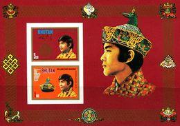 SA0452 Bhutan 1974 King Ascended The Throne S/s Imperf  MNH - Bhutan
