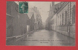 Châlon Sur Saone --  Inondations Janvier 1910  --  Rue Fructidor - Chalon Sur Saone