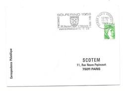FLAMME POSTE AUX ARMEES  SOLFERINO 1859 PARIS ARMEES 01 INFANTERIE VINCENNES 1979 - Oblitérations Mécaniques (flammes)
