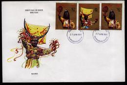 A4444) Bhutan FDC 27.4.1985 Masken Masks - Bhoutan