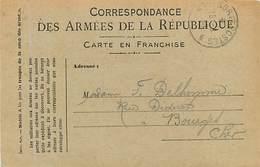 A-17-1069 : CARTE POSTALE FRANCHISE MILITAIRE. CORRESPONDANCE DES ARMEES - Marcofilia (sobres)