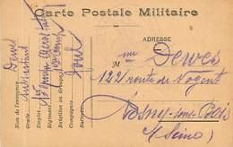 A-17-177 : CARTE POSTALE FRANCHISE MILITAIRE. CORRESPONDANCE DES ARMEES. - Marcofilia (sobres)