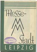 Leipzig 1930 - Messestadt - Karte 52cm X 60cm - Maßstab 1:13'000 - Straßenbahnlinien - Messehäuser - Herausgeber Leipzig - Karten