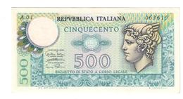 500 LIRE MERCURIO 1974 Serie A01 R2 RR Spl/sup LOTTO 762 - [ 2] 1946-… : Repubblica