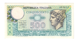 500 LIRE MERCURIO 1974 Serie A01 R2 RR Spl/sup LOTTO 762 - 500 Lire
