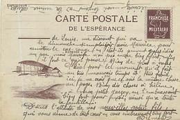A-17-180 : CARTE POSTALE FRANCHISE MILITAIRE. CORRESPONDANCE DES ARMEES. CARTE POSTALE DE L ESPERANCE  AVION AVIATION - Marcophilie (Lettres)