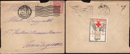 Italy - 1917 - Cover With ' PRO CROCE ROSSA Italia 1917' Stamp, Torino 9.2.1917 (zona Di Guerra) - Storia Postale