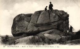 PLOUMANACH -22- ROCHER DES SOUPIRS ET MEDAILLON DE GABRIEL VICAIRE - Ploumanac'h