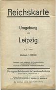 Reichskarte 1925 - Umgebung Von Leipzig In 6 Farben - Maßstab 1:100'000 - 68cm X 82cm - Topographische Karten