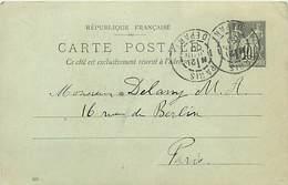 A-17-1095 : ENTIER POSTAL CARTE POSTALE. PARIS DEPART.  21 JUIN 1900 - Entiers Postaux