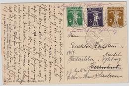1912, Bahnpost, 3 Farben , #7034 - Chemins De Fer