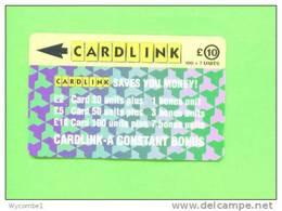 UK - Magnetic Phonecard/Cardlink £10 - Ver. Königreich