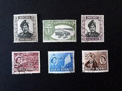 1952 $ 1 Yv.95*) + 90 +93 +North Borneo Yv 302,303,304 - Brunei (1984-...)