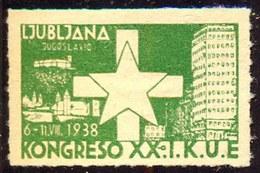 SLOVENIA - LJUBLJANA - ESPERANTO  KONGRES  - 1938 - Esperanto