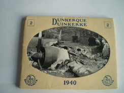 Mini  Snapshots (photo's) Boekje - Carnet 10st. Dunkerque War Damage  WW2 - Guerre 1940  Ca 9.5x7.5 Cm RARE - Dunkerque